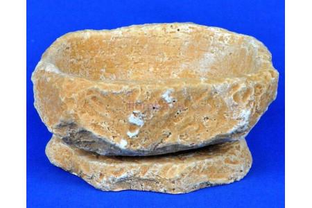 Горшок для цветов керамический с поддоном Камень Гранит св/песч км11-1