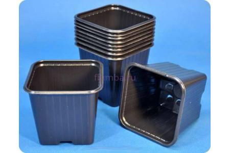Кашпо для рассады квадратное 7см х 7см х 8см пластиковое