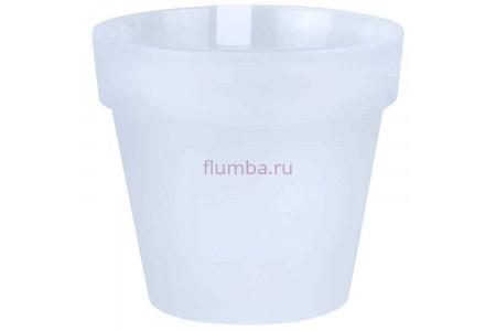 Кашпо пластиковое без поддона и дренажного отверстия Протея 2,3л  (прозр-прозр) ПР1700