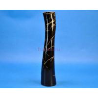 Ваза керамическая для сухоцветов  СТЕБЕЛЕК черная