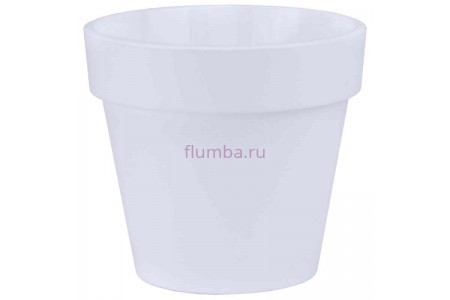 Кашпо пластиковое без поддона и дренажного отверстия Протея 2,3л  (бел-бел) ПР1710