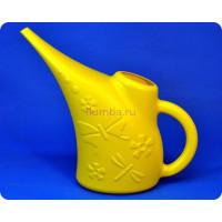 Лейка пластиковая «Райский сад» 1,5л (желтая) м1770