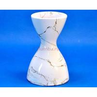 Ваза керамическая для сухоцветов  Р.ЧАСЫ белая