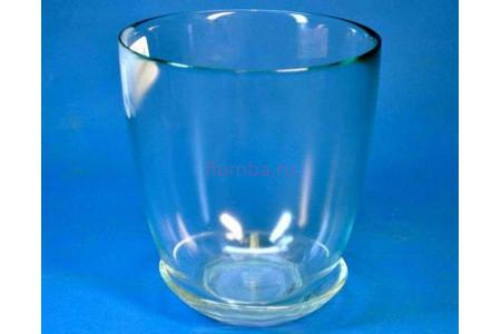 Горшок из стекла цветочный  «№4  прозрачный»