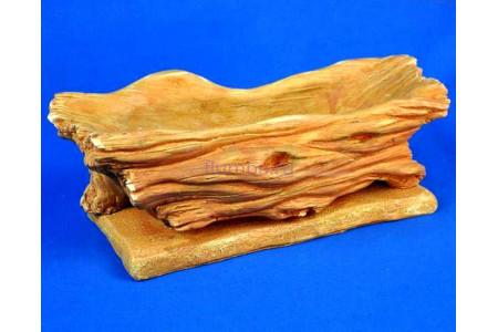 Горшок для цветов керамический с поддоном Коряга 1л светлый песчаник км17-1