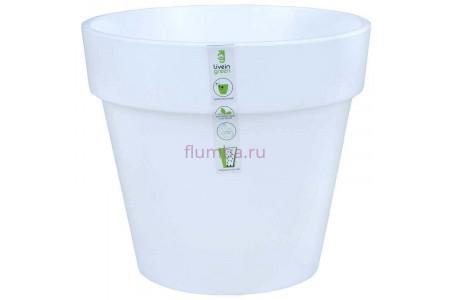 Кашпо пластиковое без поддона и дренажного отверстия Протея 6л (бел) ПР2510
