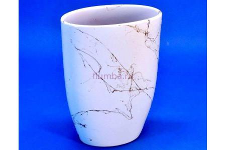 Ваза керамическая для сухоцветов  Р.ОВАЛ белая